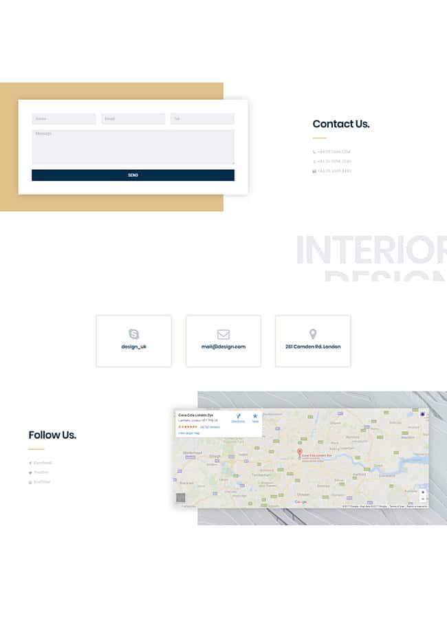 Templejt za veb stranica - Contact Interior - Veb dizajn, Темплејт за веб страница - Contact Interior - Веб дизајн