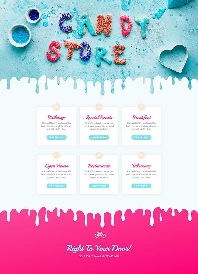 Templejt za veb stranica - Shop Sweets - Veb dizajn, Темплејт за веб страница - Shop Sweets - Веб дизајн