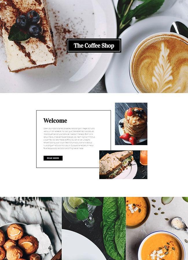Templejt za veb stranica - Homepage Coffee Shop - Veb dizajn, Темплејт за веб страница - Homepage Coffee Shop - Веб дизајн