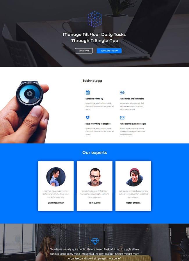 Templejt za veb stranica - Homepage App - Veb dizajn, Темплејт за веб страница - Homepage App - Веб дизајн