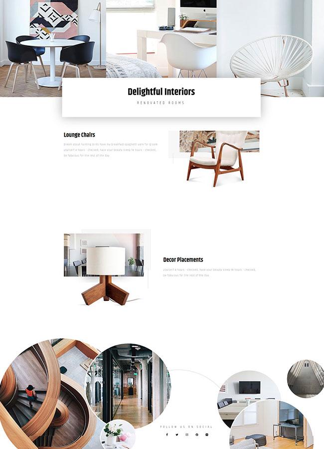 Templejt za veb stranica - Homepage Interior Design - Veb dizajn, Темплејт за веб страница - Homepage Interior Design- Веб дизајн
